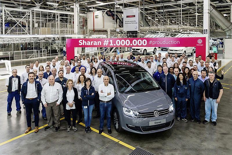 Eine Million Sharan - Produktionsjubiläum bei Volkswagen Autoeuropa in Portugal