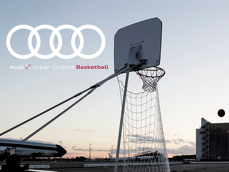 Audi Urban Cinema: Vier Ringe laden für Endrunde der Basketball-Bundesliga zum Public Viewing